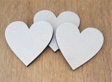6 mm Thick MDF Wood Wooden Hearts Choice of Heights 10cm to Large 60cm 001