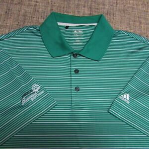 ADIDAS CLIMALITE POLY GOLF SHIRT--XL--APPLEWOOD GOLF COURSE-TOP SPOTLESS QUALITY