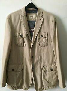 men's Camel Active cotton blend blazer Jacket Gr. 54 ( XL safari style