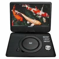 Koramzi Portable Swivel DVD Player with Rechargeable Battery / USB&SD Reader