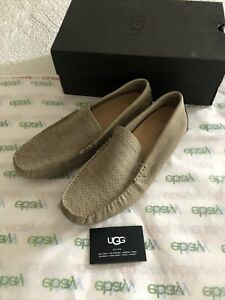 UGG Mens Henrick Stripe Military Sand Loafers Size 10.5 New In Box