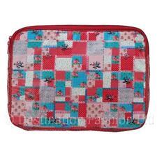 NUOVO * Sass & belle signore patchwork Laptop PC CASE TRAVEL manica titolare copertura