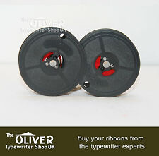OLIVETTI  TYPEWRITER RIBBON:  Lettera 32,Studio 45,D82 Lexicon80 (Black/Red)