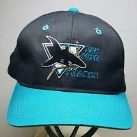 San Jose Sharks Black NHL Hockey Snapback Hat Cap