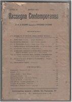 RASSEGNA CONTEMPORANEA PUBBLICAZIONE MENSILE MARZO 1911 G.A. CESARO' -O145