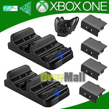 Dual Charging Dock Station Charger +2 Batteries For XBOX ONE Wireless Controller