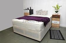 4ft Small Double Divan Bed With Real Orthopaedic 25cm Mattress UK Factory Shop