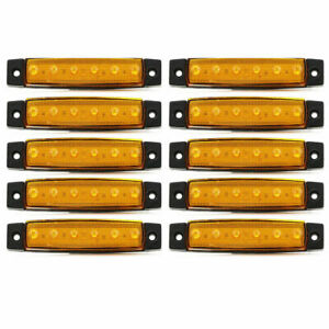 10x LED Orange Marker Lights Iveco Daily Renault Master Ford Transit Opel Movano