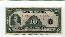 Canada 10 Dollars 1935 Bank Of Canada Nr 225.00