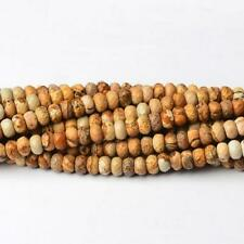 Picture Jasper Faceted Rondelle Beads 5x8mm Beige 70+ Pcs Gemstones Jewellery