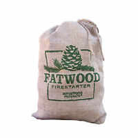 Betterwood Products Fatwood Firestarter 10 Pound Burlap Bag