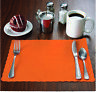 "50 Raise® Orange Paper Placemats,Scalloped Edge,10""x14"" place mats, Disposable"