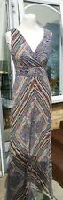 Ladies Colourful Maxi Dress by Monsoon Size 10 Long ties at the back NEW no tags
