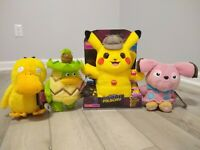 4x Detective Pikachu Movie Talking Plush Pokemon Interactive Plush Collection