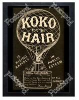 Historic Koko for the Hair, London 1880s Advertising Postcard 1