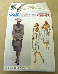 Vogue 2906 Size 10 Vogue American Designer Dress Pattern by Blassport Ltd