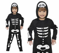 Toddlers Halloween Skeleton Fancy Dress Costume Ages 1-4 Years