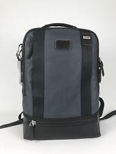 Tumi Alpha Bravo Dover Dusk Blue Leather Laptop Business Backpack 92682DSK2