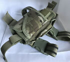 Adjustable Drop Leg Holster For Belt With Thigh Strap - Multicam Camo