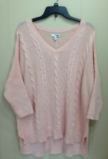 SONOMA Women's Sweater Cable Knit Dolman Sleeve V Neck Top X Large XL Winter NWT