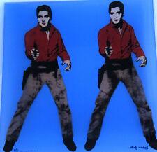 ANDY WARHOL Rosenthal Der doppelte ELVIS.Glasteller 30x30cm limit. SUPER