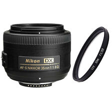 Nikon 35mm f/1.8G AF-S DX Lens for Nikon Digital SLR Cameras + UV Filter