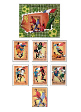 AFG97062 Football France 98 6 + block + stamp from the block
