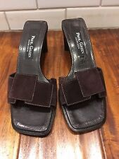 Paul Green Munchen Brown Suede Leather Slide Sandals Sz. UK 3/US 5.5