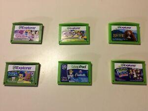 Lot Of 6 Games LeapFrog LeapPad Explorer Game Cartridges