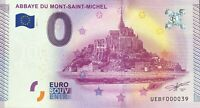 BILLET 0 EURO ABBAYE DU MONT SAINT MICHEL FRANCE 2015-1 TOUT PETIT N° 39