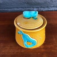 Vintage Royal Sealey Yellow Pear Sugar Bowl