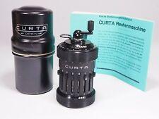 Curta-Rechenmaschine Type I, 1961, mit Metalldose + 3 Anleitungen TOP-Zustand