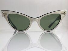 RAY-BAN VTG 1950s 1960s USA WOMEN'S PEARL G15 UV LISBON CATS EYE SUNGLASSES