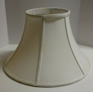 Bell Shaped-White Fabric -Lined Lampshade 18 inch dia. x 11 inch high