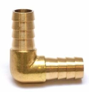 1/2 ID Hose Barb 90 Degree Elbow Brass Fitting Fuel, Air, Water, Gas, Oil