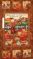"Fall Fabric - Harvest Angels Scarecrow Farm Scene - Spectrix SPX 24"""