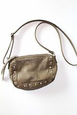 Small Studded Cross body Bag Brown Women's