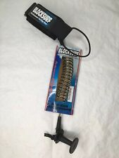 Bodyboard Bicep Coiled Leash with Anchor Plug Clear Black Coils Block Surf