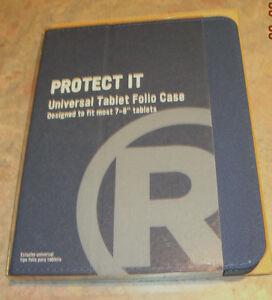 "New Radio Shack tablet case slim universal case Blue 7-8"""