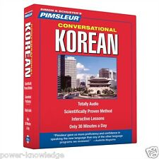 New 8 CD Pimsleur Learn Speak conversational Korean Language