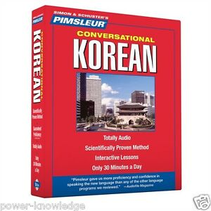 New 8 CD Pimsleur Learn Speak conversational Korean Language