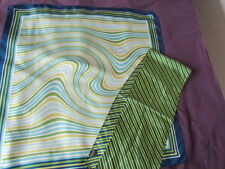 Vintage Silk Scarf Lot Geometric Abstract Aqua Green Lime Navy