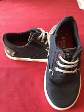 Sperry Top-Sider Toddler Blue Halyard Canvas Loafers Boat Shoes Size -8-Euc