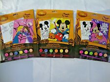 3 New Disney Minnie Mickey Mouse Anne Elsa Halloween Coloring Paint Sets Water
