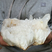 2292g Natural Clear White Quartz Crystal Cluster Rough Healing Mineral Specimen