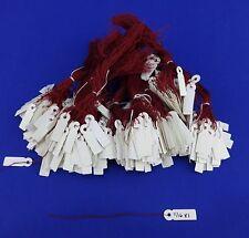 "1000 Strung Blank White Jewelry Price Tag size 5/16"" x 1"""