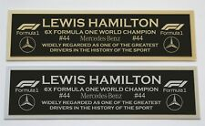 Lewis Hamilton Formula one nameplate for signed photo or display case