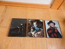 3 Pictures Horror Freddy Krueger Jason Friday the 13th Chucky Childs Play (b757)