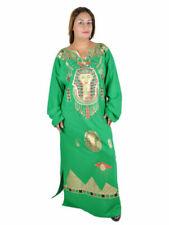 Robes verts à col en v pour femme
