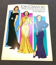 Vintage Joan Crawford Paper Dolls Collection Full Color Tom Tierney